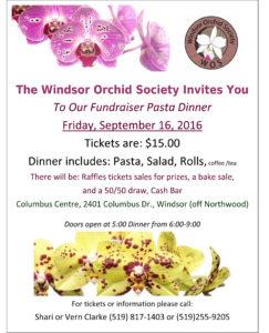 Windsor Orchid Society Pasta Dinner Fundraiser @ Columbus Centre | Windsor | Ontario | Canada