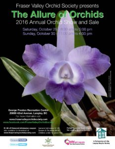 Fraser Valley Orchid Society -Annual Show & Sale @ George Preston Recreation Center   Langley   British Columbia   Canada
