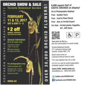 Southern Ontario Orchid Society Show & Sale @ Toronto | Ontario | Canada