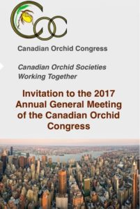 AGM of the Canadian Orchid Congress @ OSPF/Orchid Resource Ctr | Edmonton | Alberta | Canada