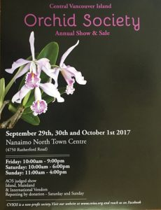 Central Vancouver Island Orchid Societies Annual Show & Sale @ Nanaimo North Town Centre | Nanaimo | British Columbia | Canada