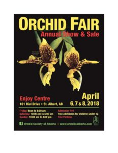 Orchid Society of Alberta Show & Sale @ Enjoy Centre | St. Albert | Alberta | Canada