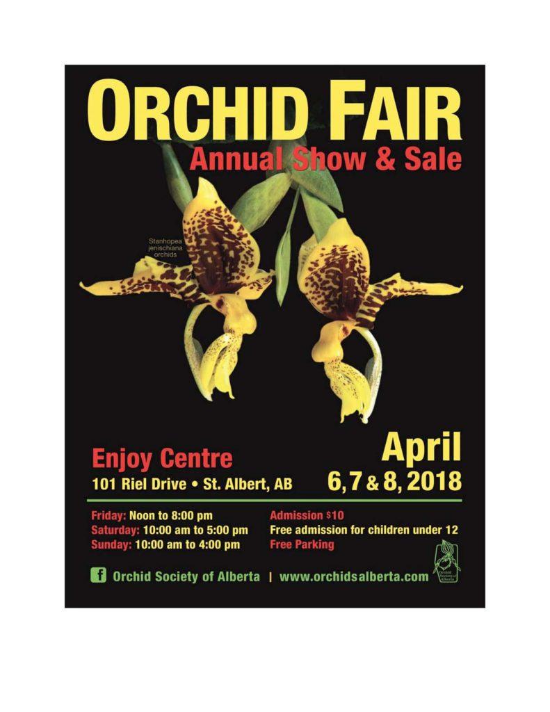 Orchid Society of Alberta Show & Sale @ Enjoy Centre   St. Albert   Alberta   Canada