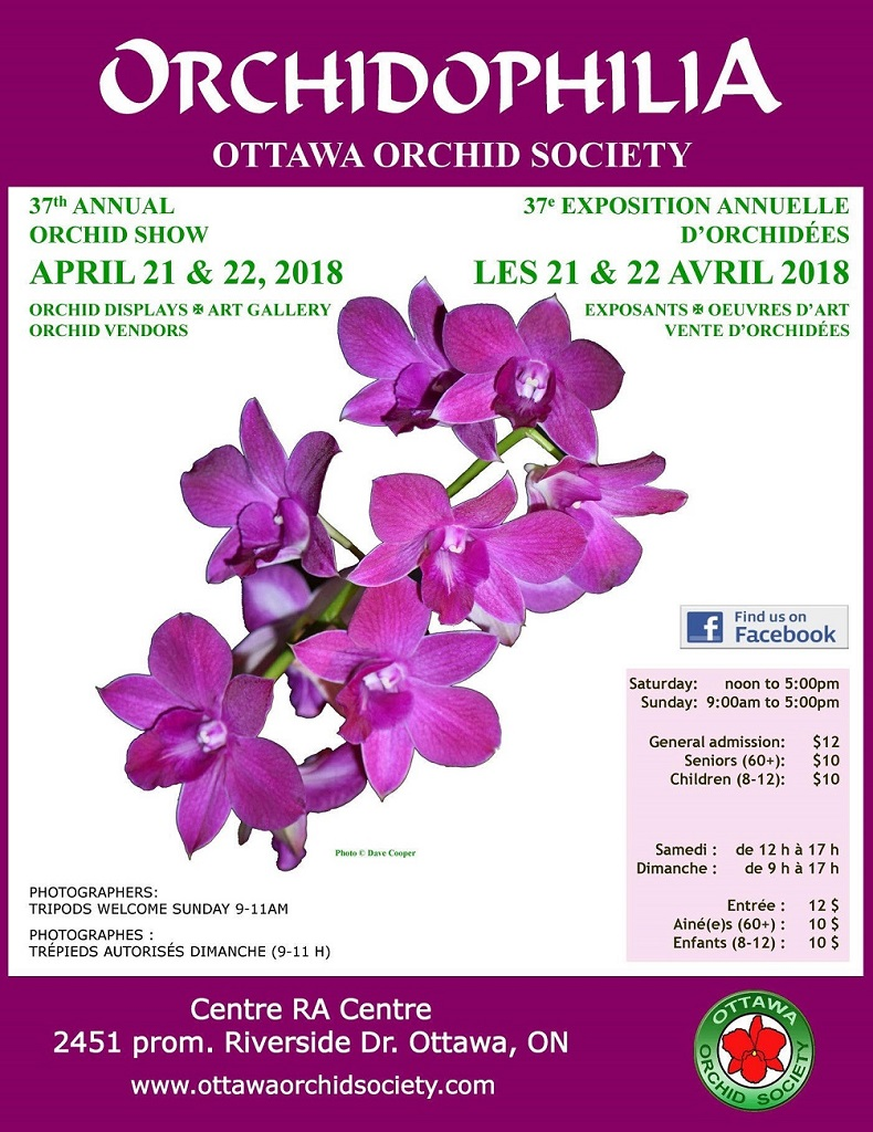 Ottawa Orchid Society Orchidophilia - 37th Annual Orchid Show @ Centre RA Centre | Ottawa | Ontario | Canada