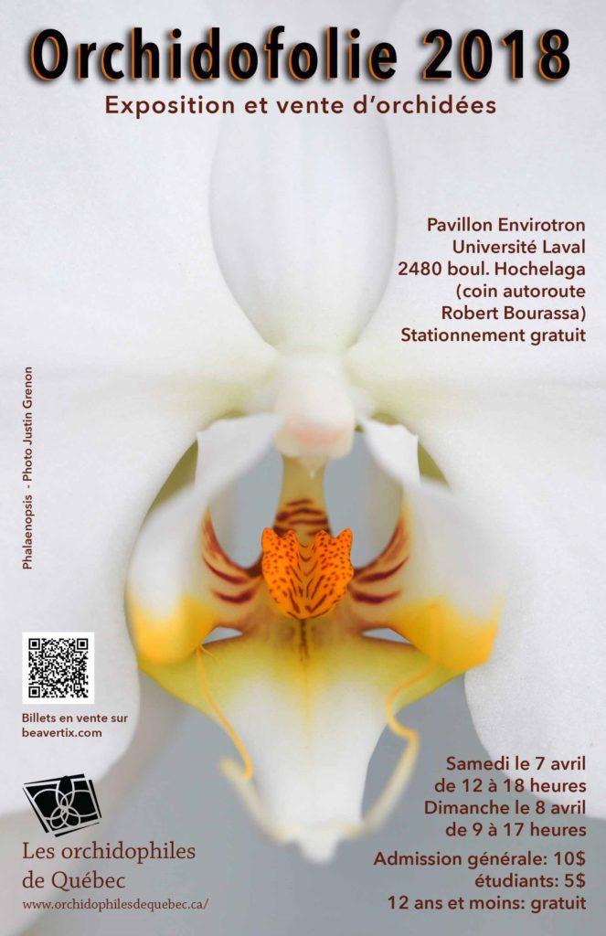 Orchidofolie 2018 - Exposition et vente d'orchidees @ Pavillon Environtron - Universite Laval | Ville de Québec | Québec | Canada