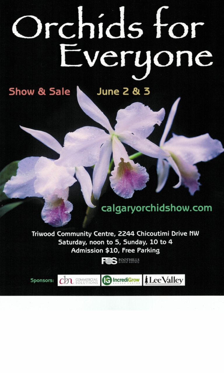 2018 Calgary Orchid Show & Sale - Orchids for Everyone @ Triwood Community Centre | Calgary | Alberta | Canada