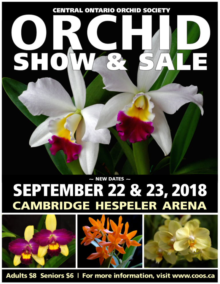 Central Ontario Orchid Society (COOS) Show & Sale 2018 @ Cambridge Hespler Area | Cambridge | Ontario | Canada