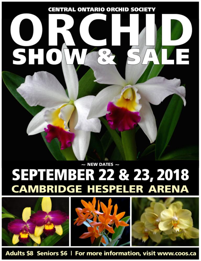 Central Ontario Orchid Society (COOS) Show & Sale 2018 @ Cambridge Hespler Area | Cambridge | Ontario | Canada