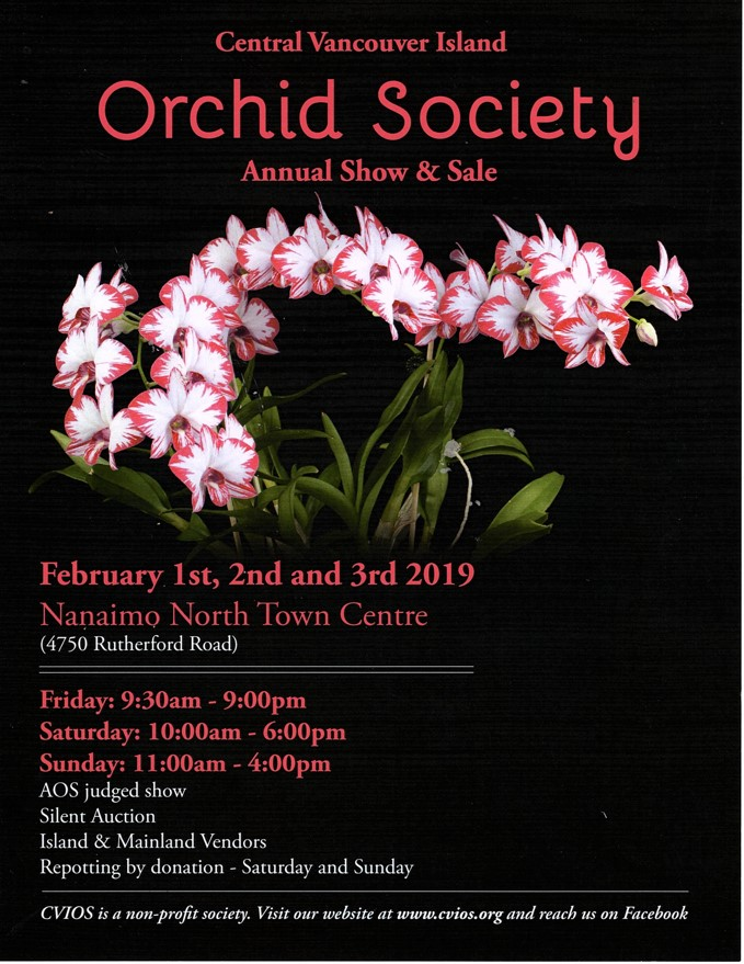 Central Vancouver Island Orchid Society 2019 Annual Show & Sale @ Nanaimo North Town Centre