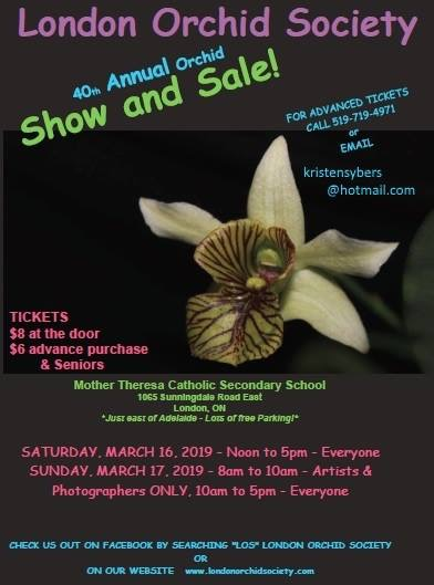 London Orchid Society 40th Annual Show & Sale @ Mother Theresa Catholic Secondary School