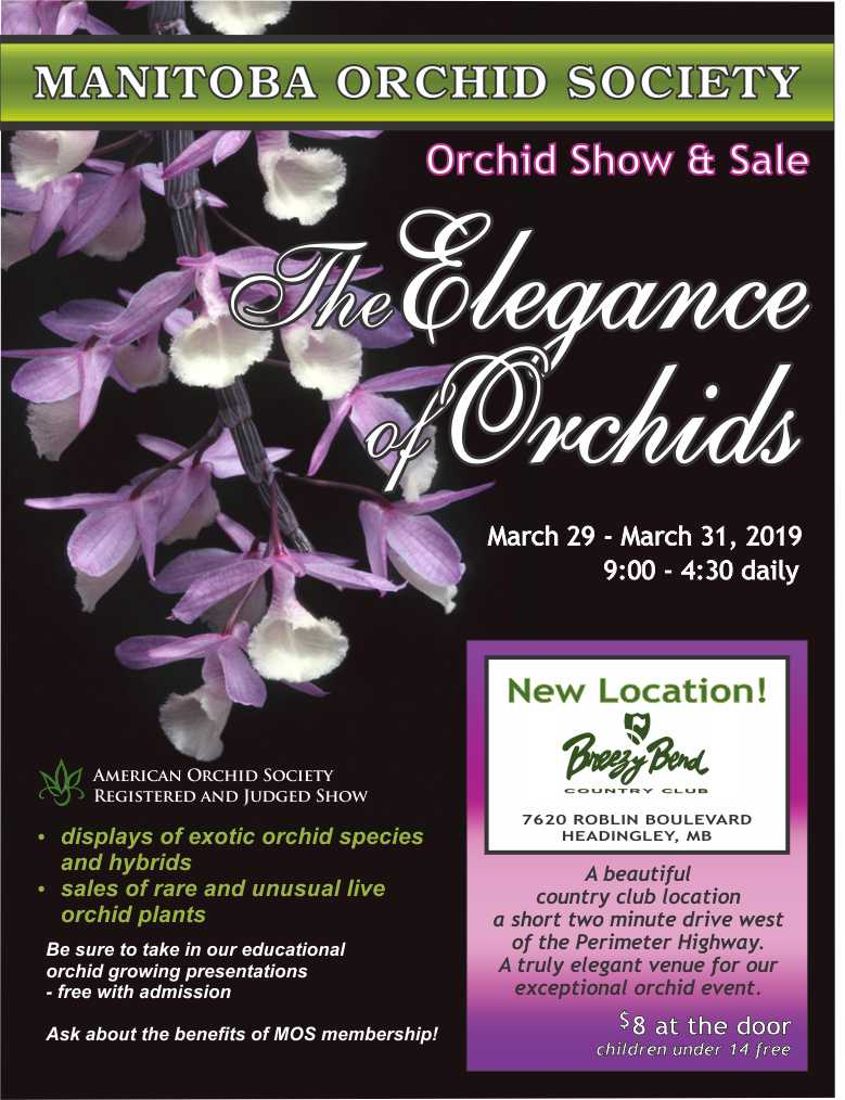 Manitoba Orchid Show & Sale 2019 @ Breezy Bend Country Club