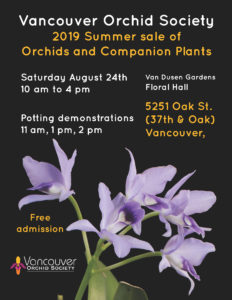Vancouver Orchid Society Summer Sale @ VanDusen Gardens, Floral Hall
