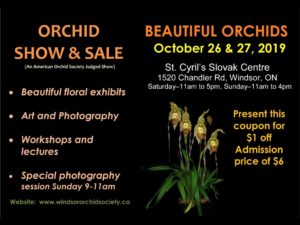 Windsor Orchid Show and Sale @ St. Cyril's Slovak Centre