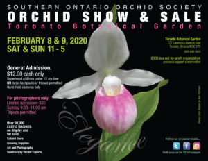Southern Ontario Orchid Society Show & Sale @ Toronto Botanical Gardens