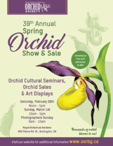 Orchid Society of the Royal Botanical Gardens 39th Annual Show & Sale @ Royal Botanical Gardens