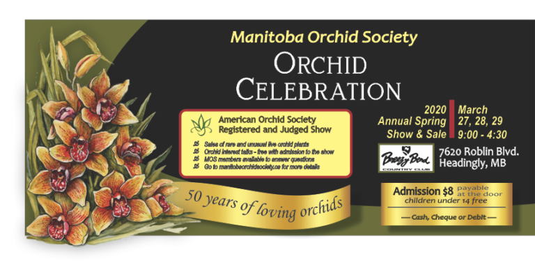 Manitoba Orchid Society 2020 Annual Orchid Show - CANCELLED @ Breezy Bend Country Club