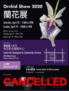 Toronto Artistic Orchid Association 19th Annual Orchid Show - CANCELLED @ Centre for Immigrant & Community Services